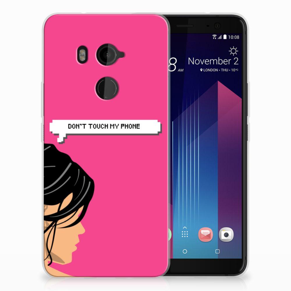 HTC U11 Plus Uniek TPU Hoesje Woman DTMP