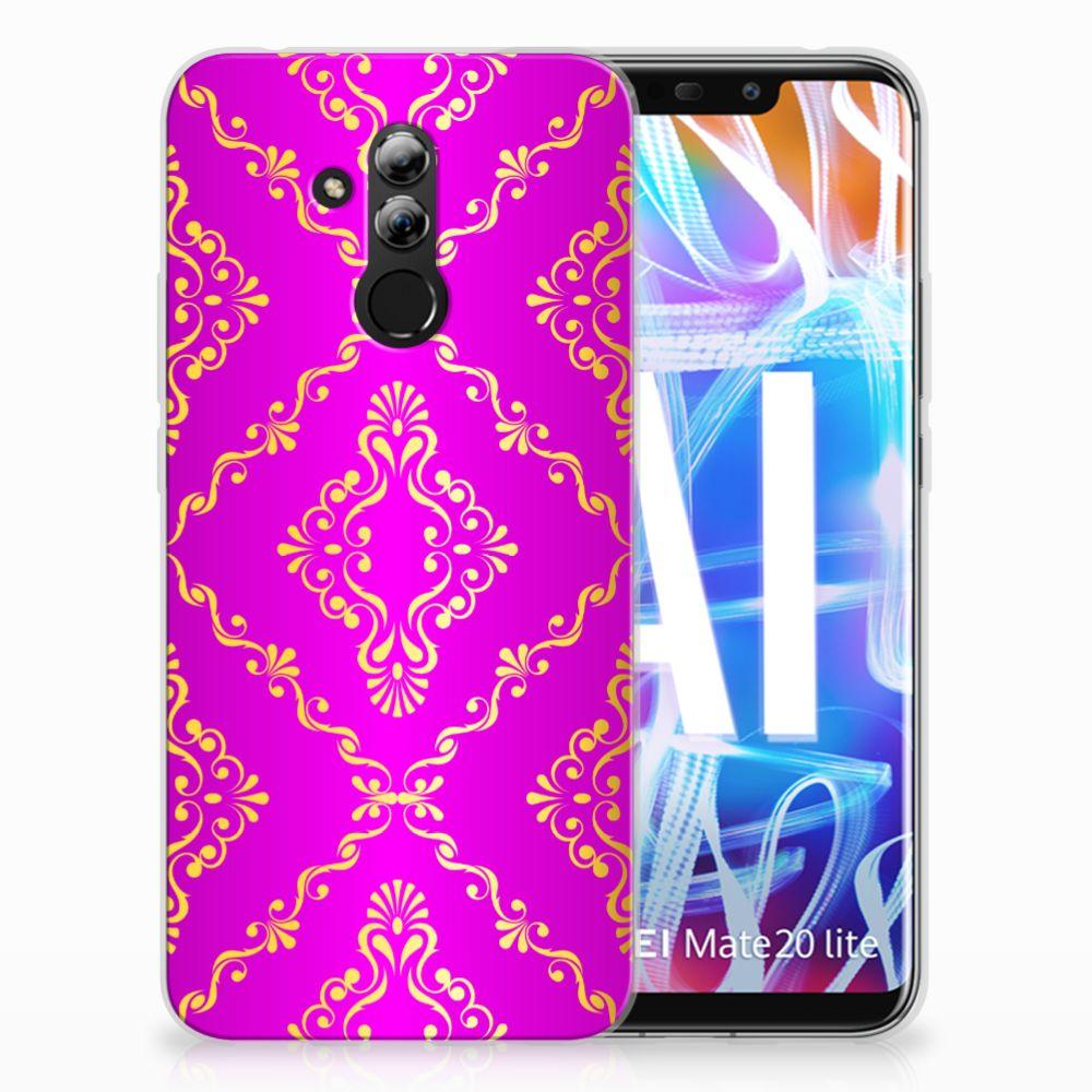 Siliconen Hoesje Huawei Mate 20 Lite Barok Roze