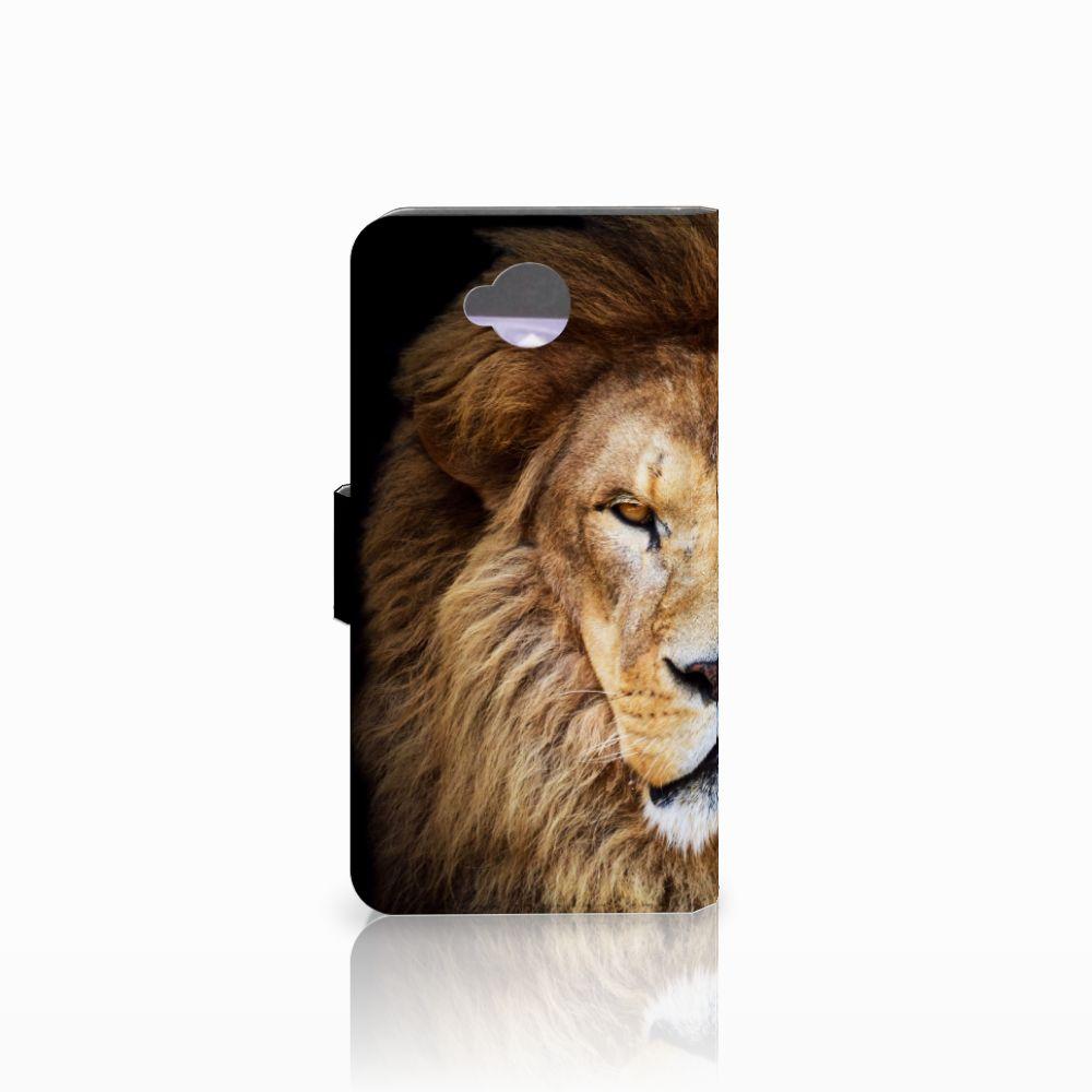 Microsoft Lumia 650 Telefoonhoesje met Pasjes Leeuw