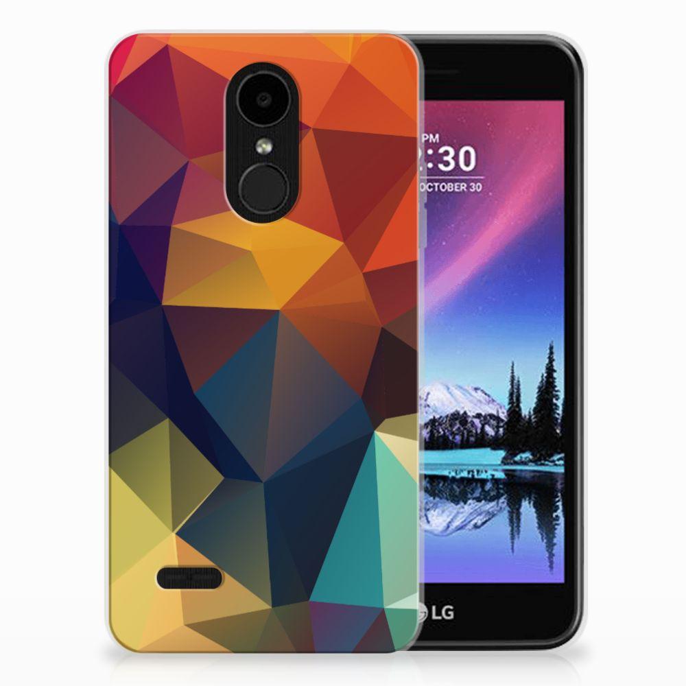 LG K4 (2017) TPU Hoesje Polygon Color