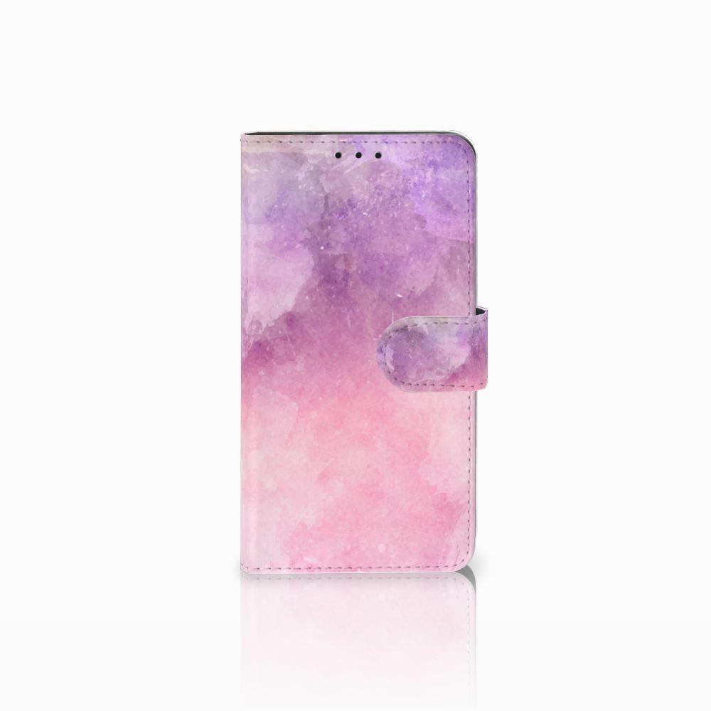 Huawei Honor 6X Boekhoesje Design Pink Purple Paint