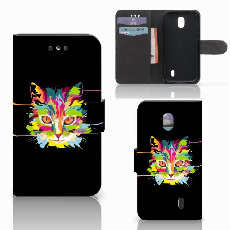 Nokia 1 Leuk Hoesje Cat Color