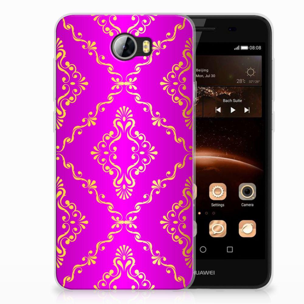 Siliconen Hoesje Huawai Y5 II | Y6 II Compact Barok Roze