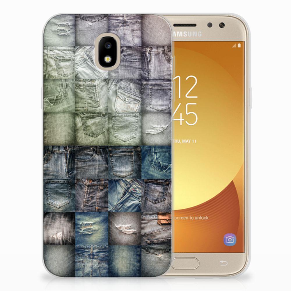 TPU Hoesje Samsung Galaxy J5 2017 Spijkerbroeken