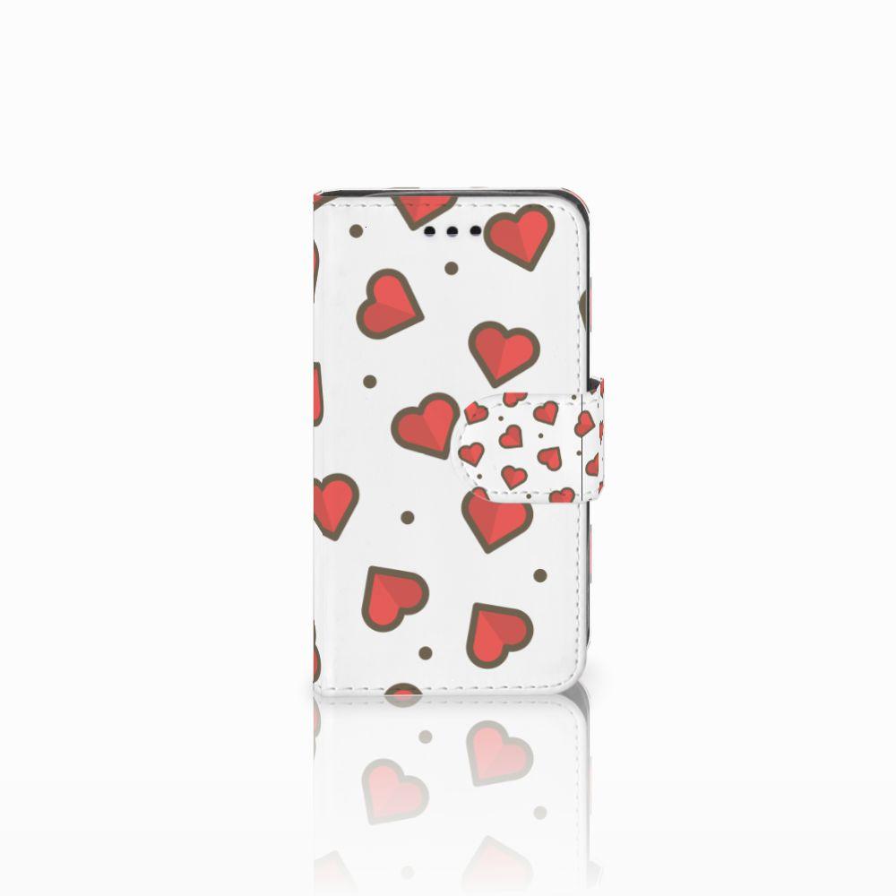 Samsung Galaxy Trend 2 Boekhoesje Design Hearts