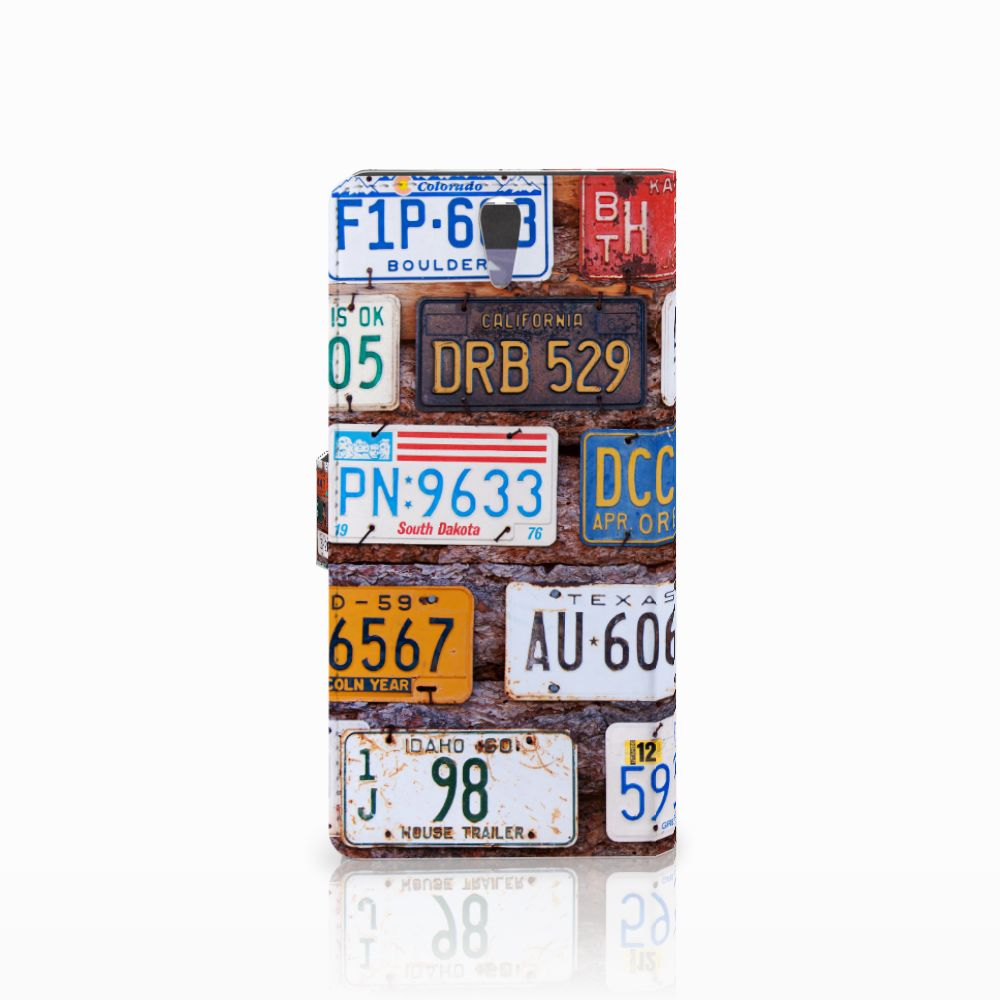 Sony Xperia C5 Ultra Telefoonhoesje met foto Kentekenplaten