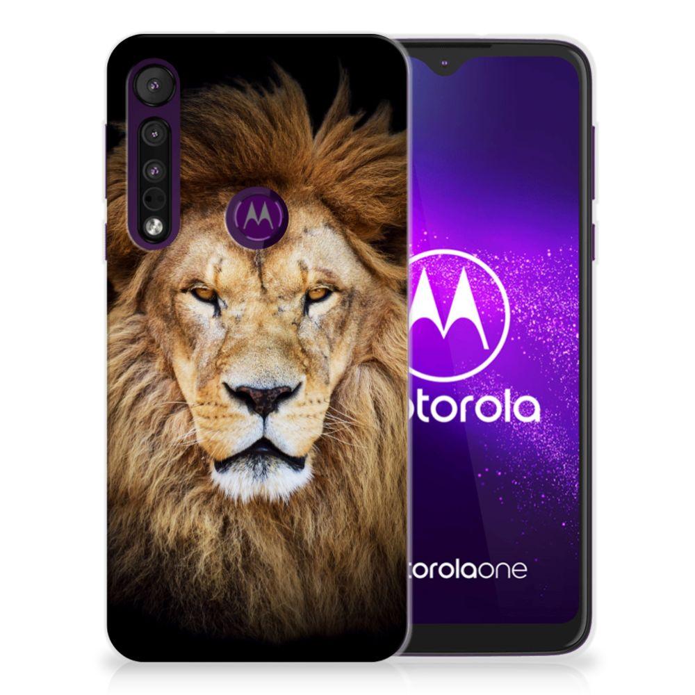 Motorola One Macro TPU Hoesje Leeuw