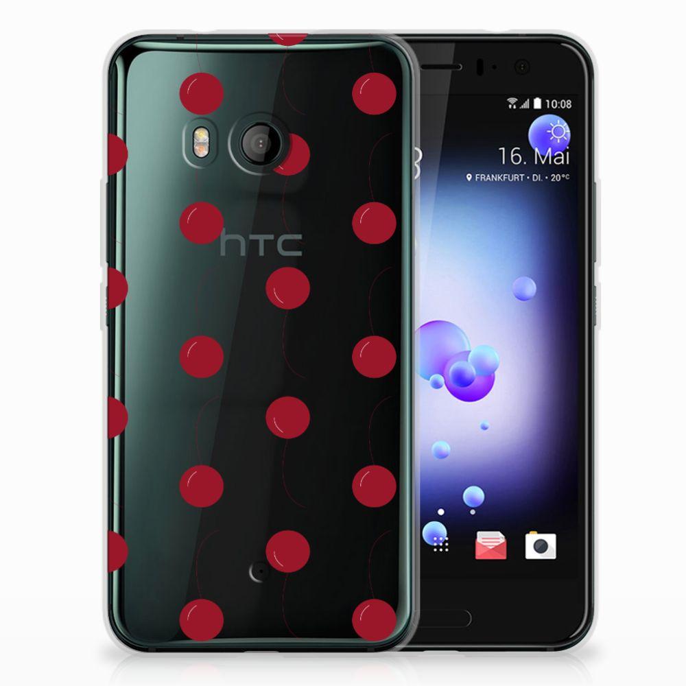 HTC U11 TPU Hoesje Design Cherries