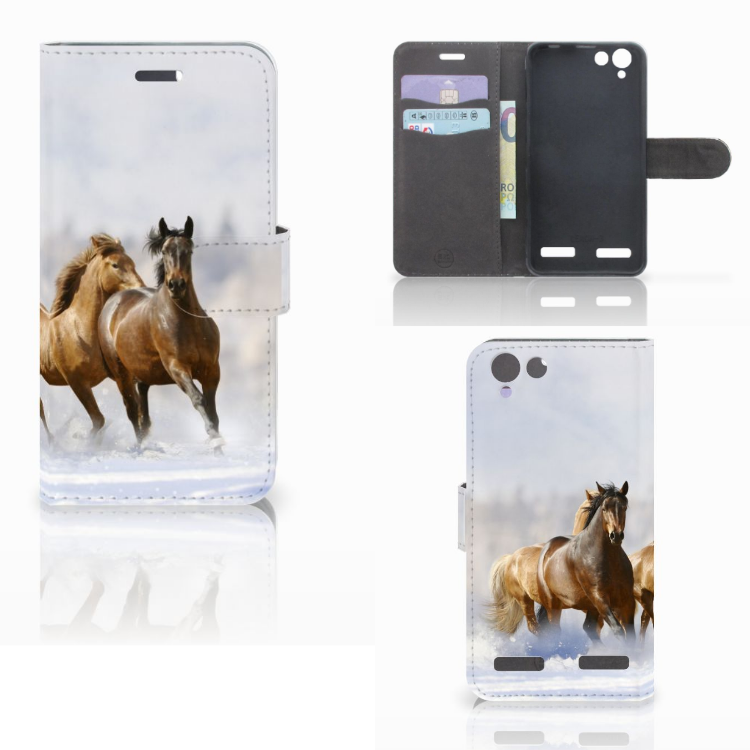 Lenovo Vibe K5 Telefoonhoesje met Pasjes Paarden
