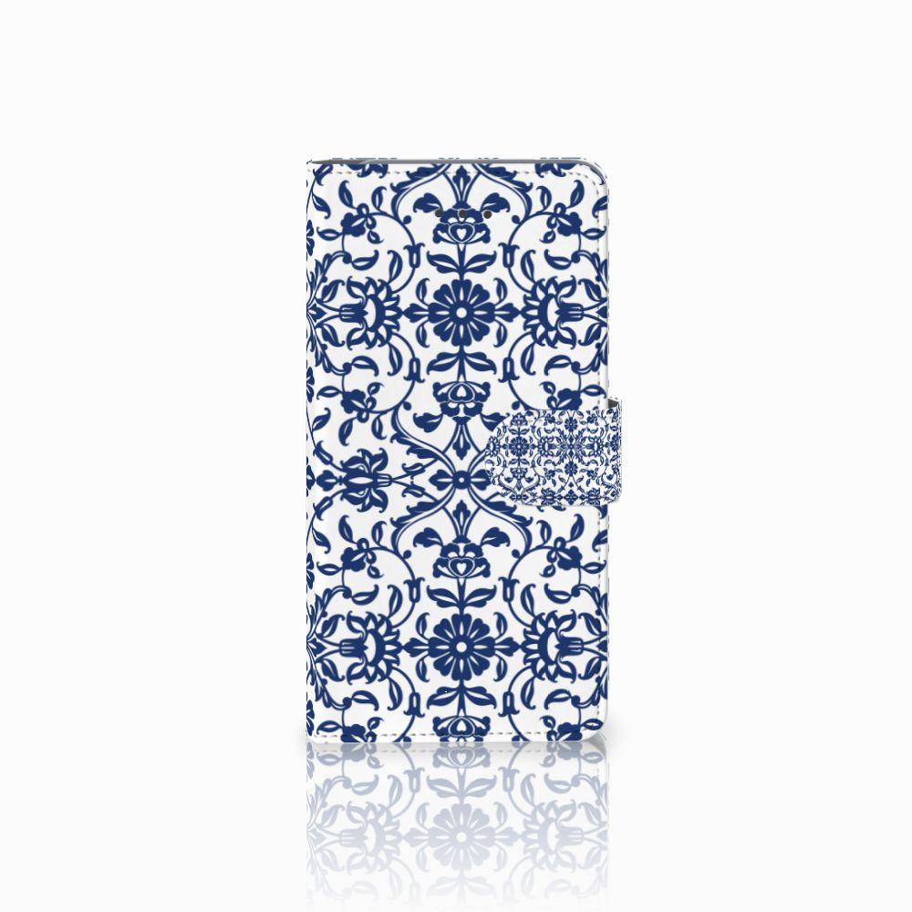 Samsung Galaxy J7 (2018) Boekhoesje Flower Blue