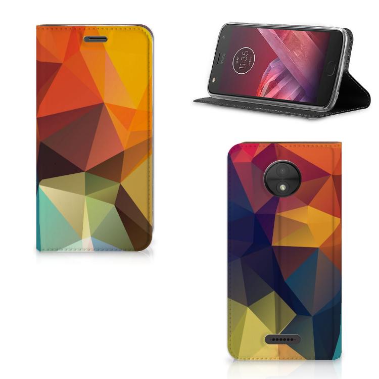 Motorola Moto C Stand Case Polygon Color