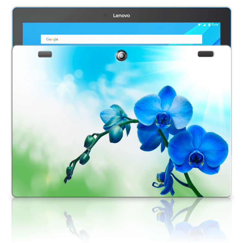 Lenovo Tab 10 | Tab 2 A10-30 Tablethoesje Design Orchidee Blauw