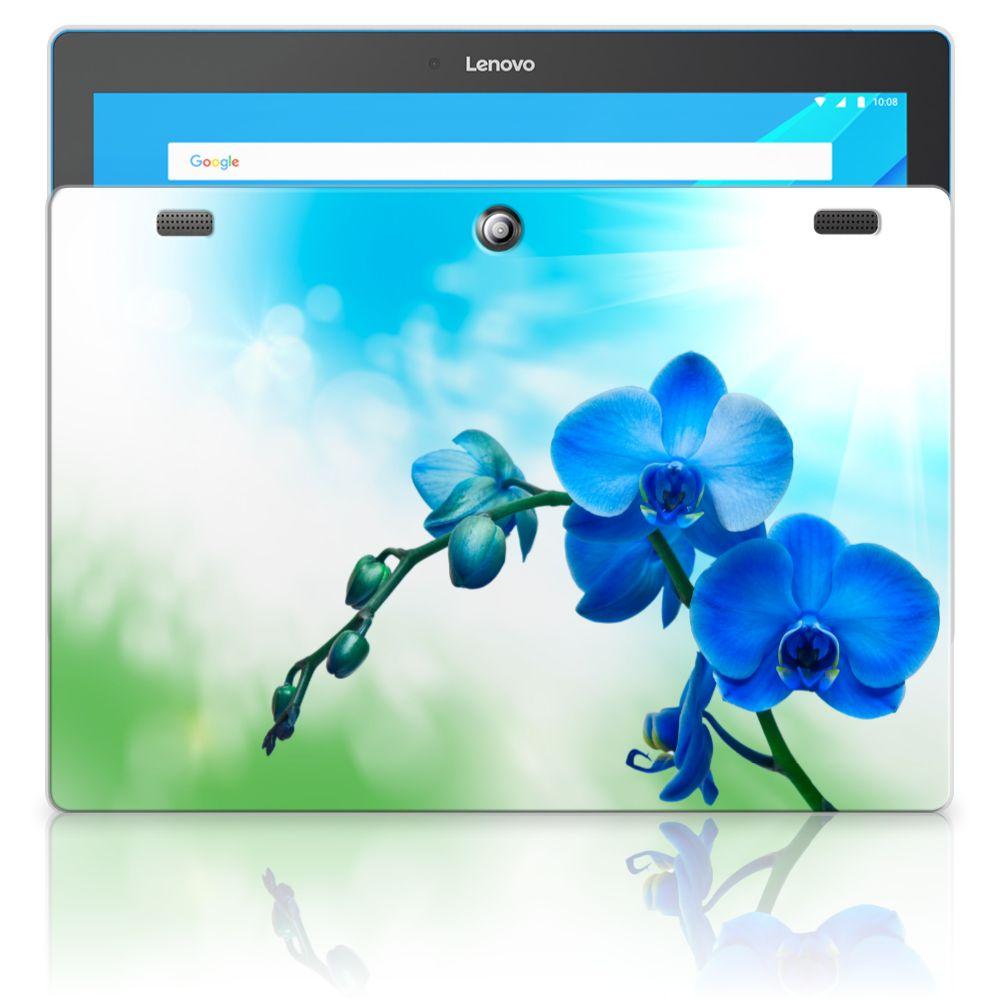 Lenovo Tab 10 | Tab 2 A10-30 Siliconen Hoesje Orchidee Blauw