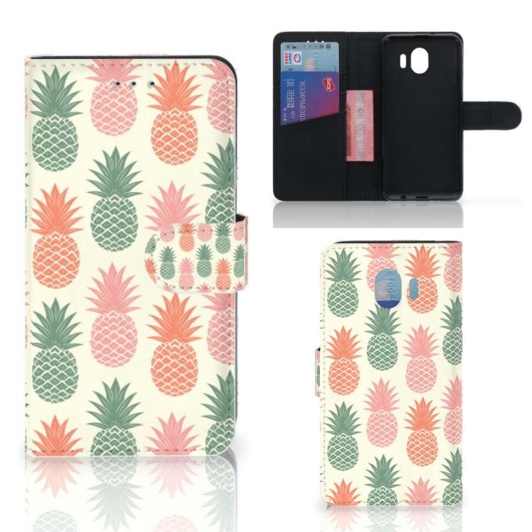 Samsung Galaxy J4 2018 Book Cover Ananas