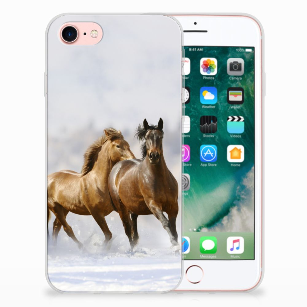 Apple iPhone 7 | 8 Leuk Hoesje Paarden
