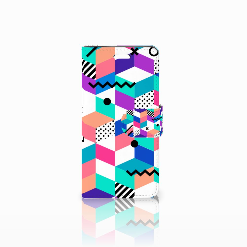 Acer Liquid Z330 Boekhoesje Design Blocks Colorful