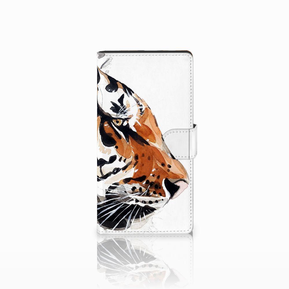 Hoesje Sony Xperia C4 Watercolor Tiger