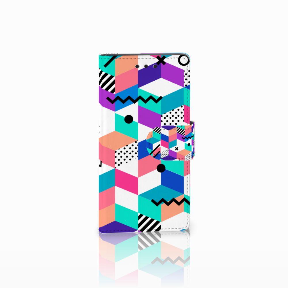 Sony Xperia Z5 Compact Boekhoesje Design Blocks Colorful