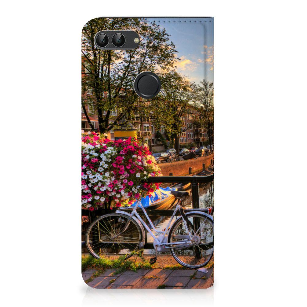 Huawei P Smart Uniek Standcase Hoesje Amsterdamse Grachten