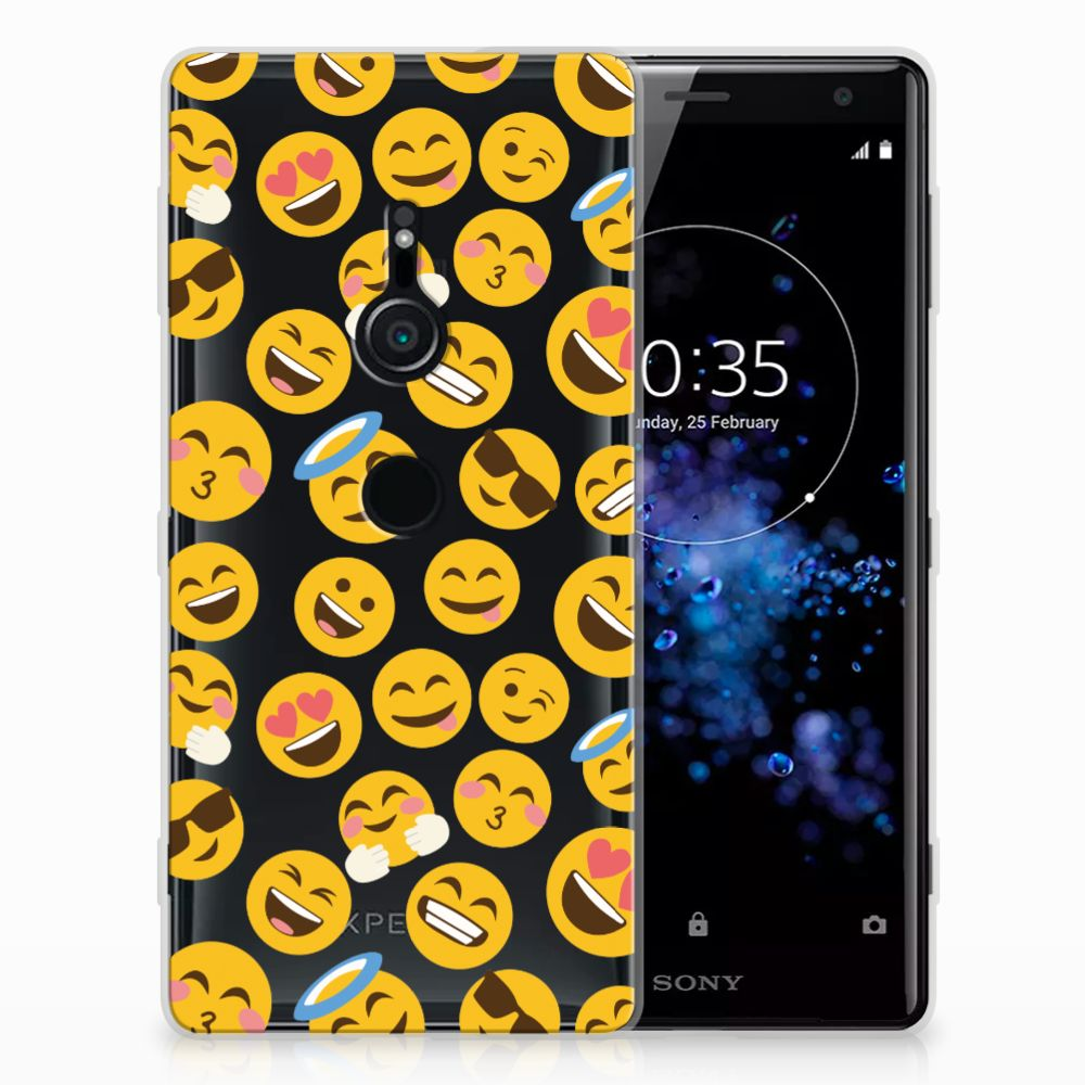 Sony Xperia XZ2 TPU bumper Emoji