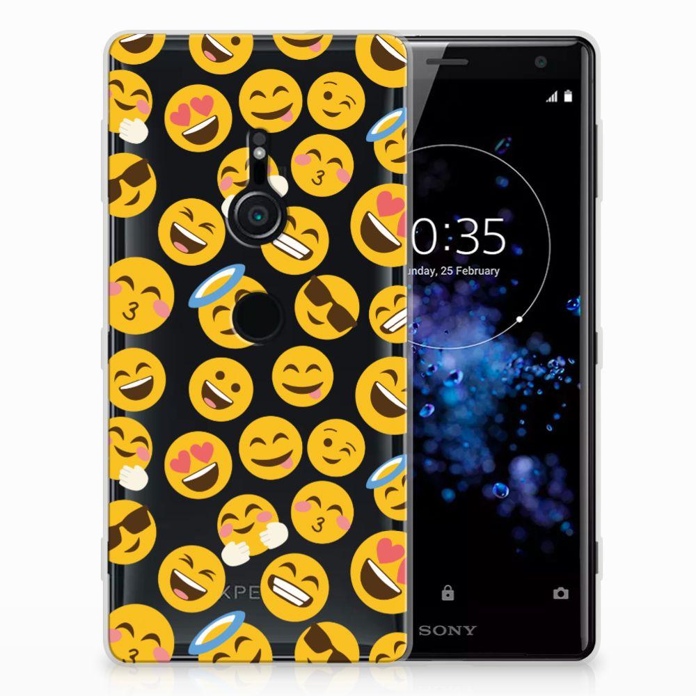 Sony Xperia XZ2 TPU Hoesje Design Emoji