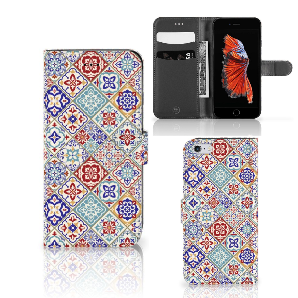 Apple iPhone 6 Plus | 6s Plus Bookcase Tiles Color