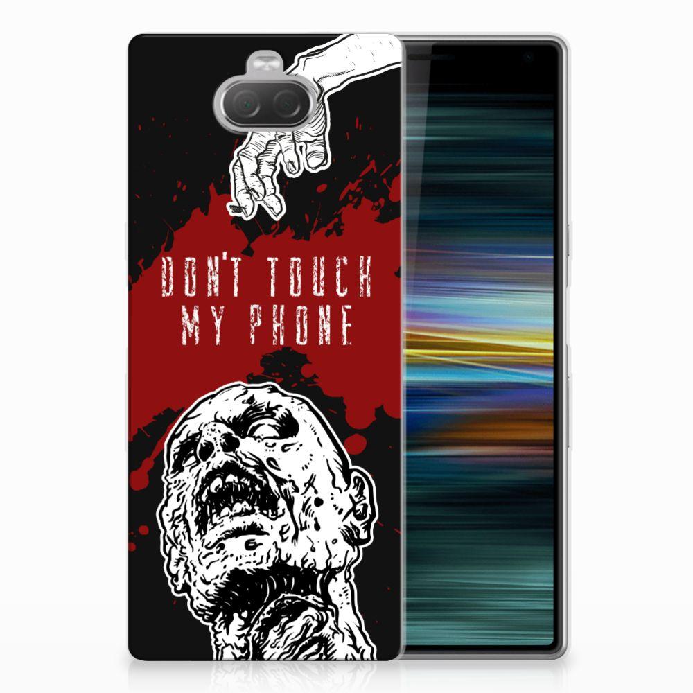 Sony Xperia 10 Plus Silicone-hoesje Zombie Blood