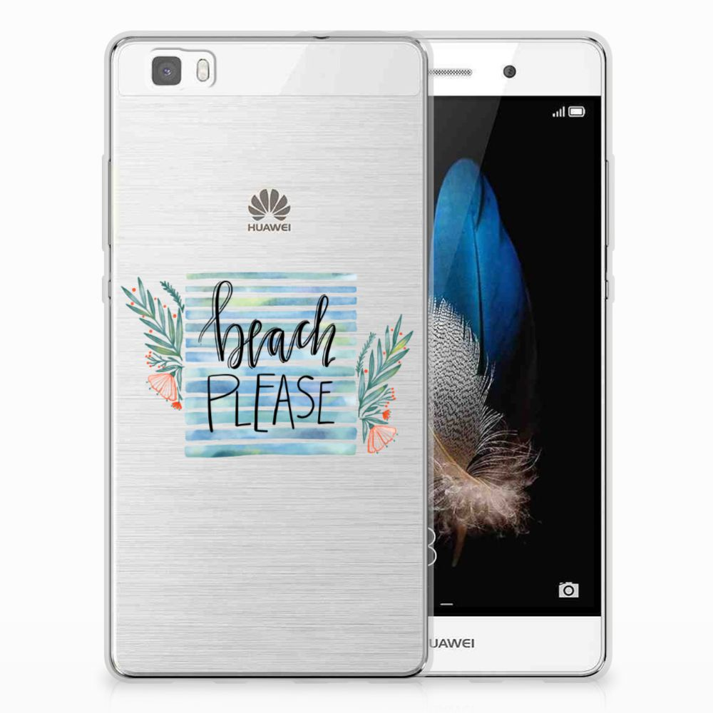 Huawei Ascend P8 Lite Telefoonhoesje met Naam Boho Beach