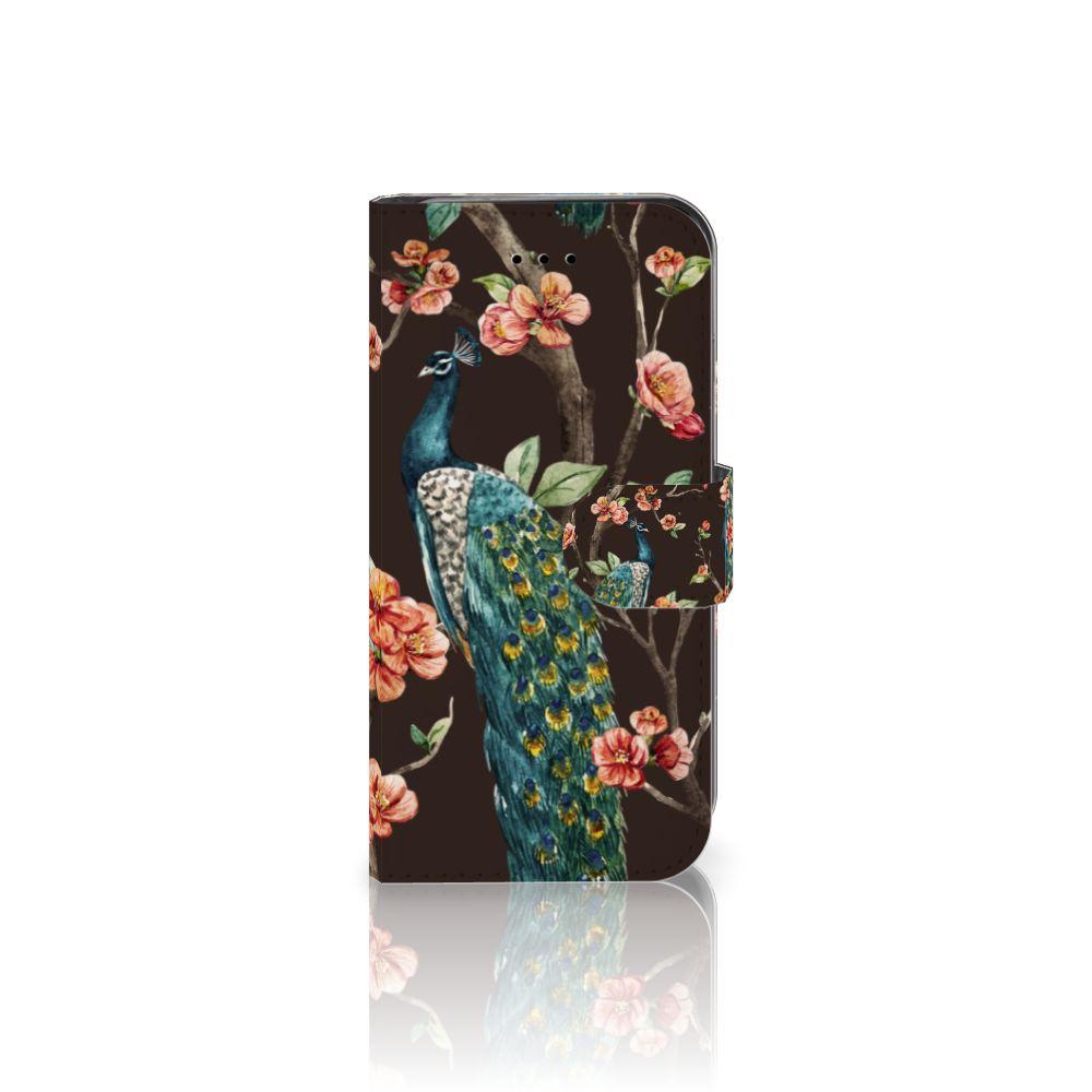 Apple iPhone 7 | 8 Boekhoesje Design Pauw met Bloemen