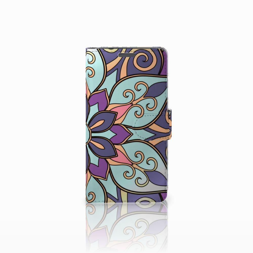 Wiko Lenny Boekhoesje Design Purple Flower