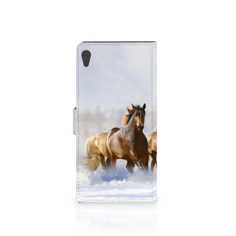 Sony Xperia XA Ultra Telefoonhoesje met Pasjes Paarden