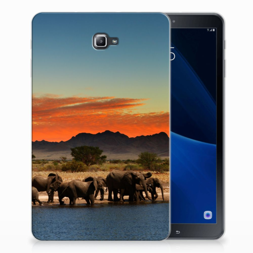 Samsung Galaxy Tab A 10.1 Tablethoesje Design Olifanten