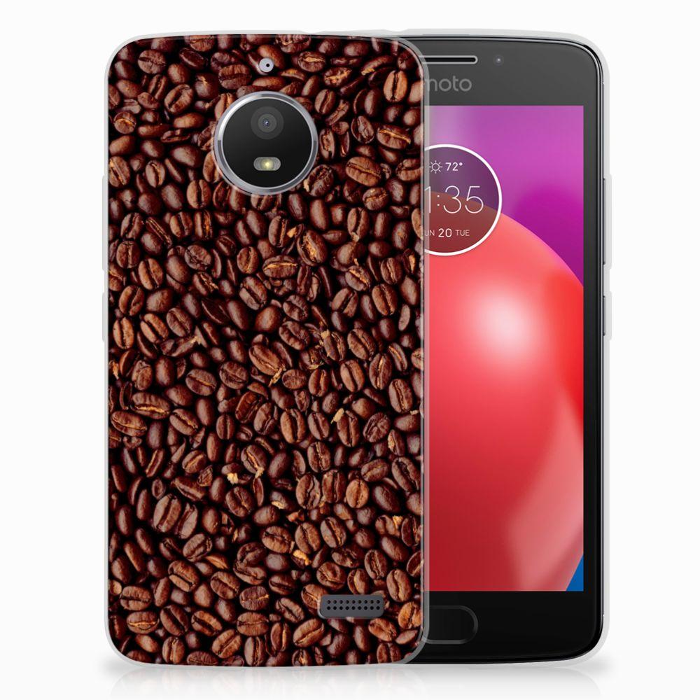 Motorola Moto E4 Siliconen Case Koffiebonen