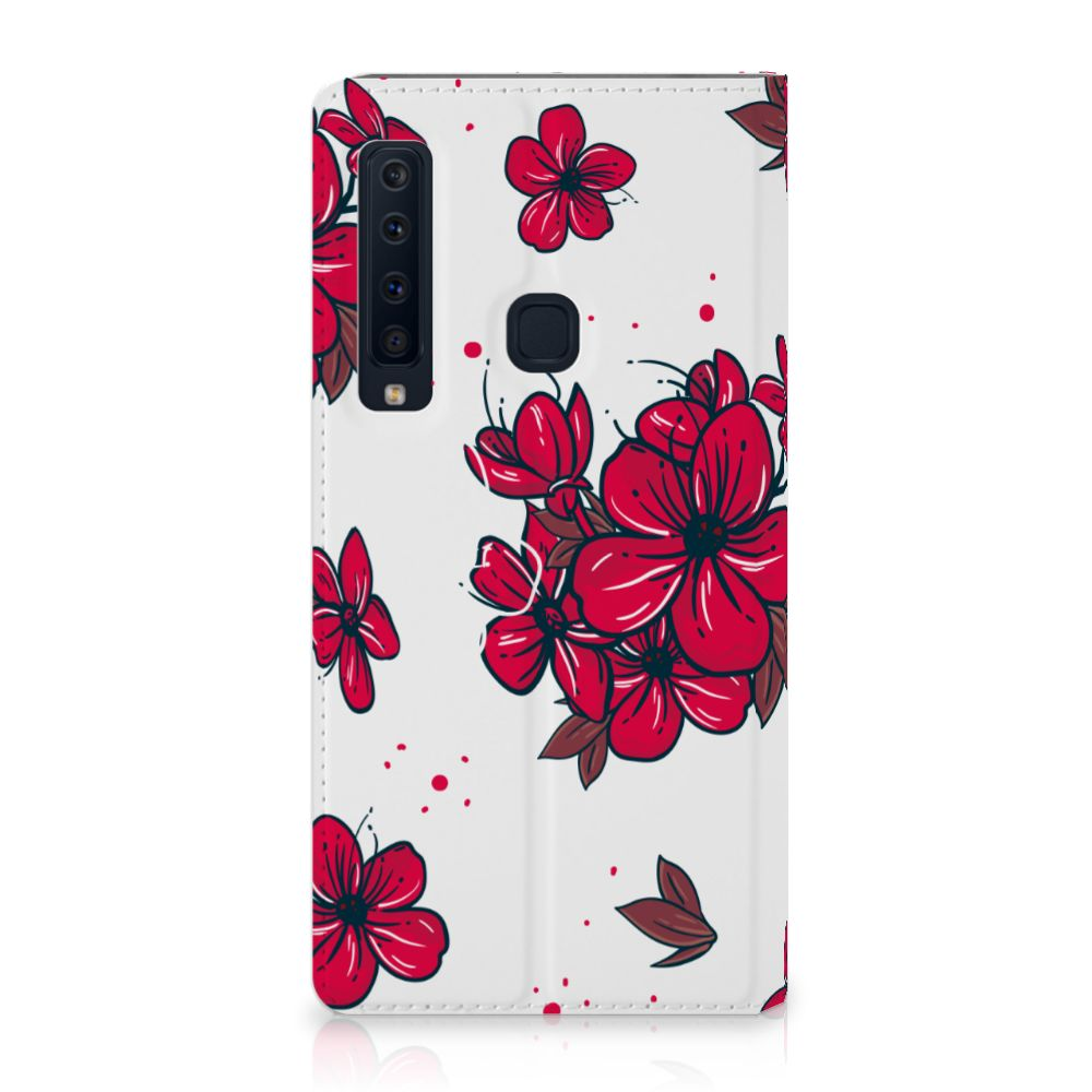 Samsung Galaxy A9 (2018) Standcase Hoesje Design Blossom Red