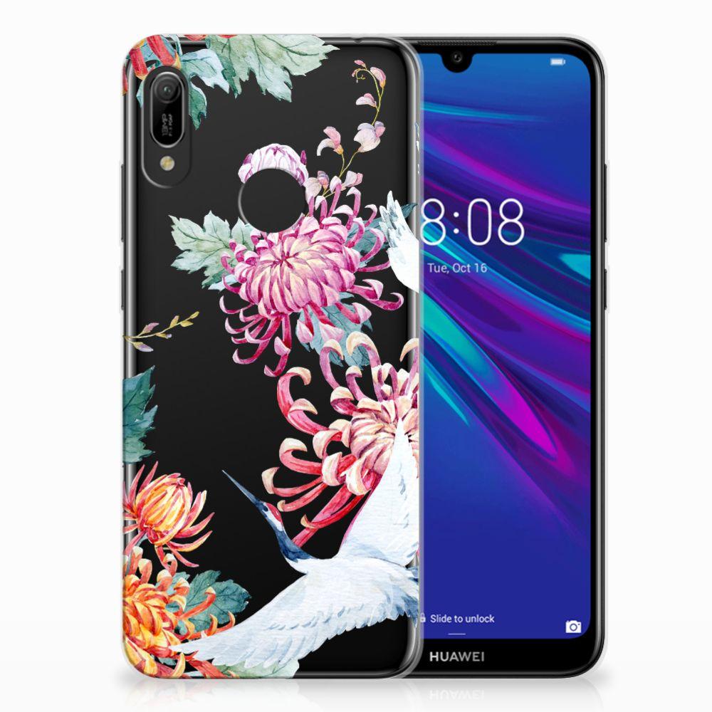 Huawei Y6 2019 | Y6 Pro 2019 Leuk Hoesje Bird Flowers