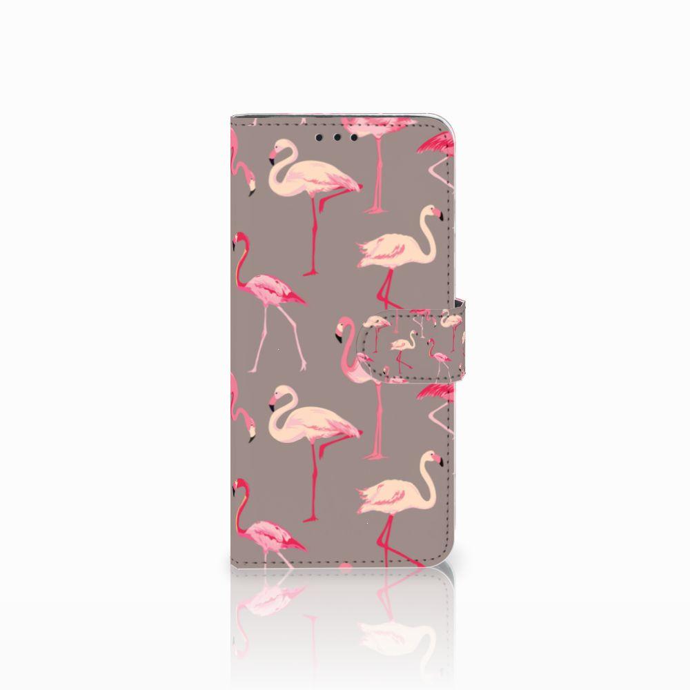 Huawei Nova 4 Uniek Boekhoesje Flamingo
