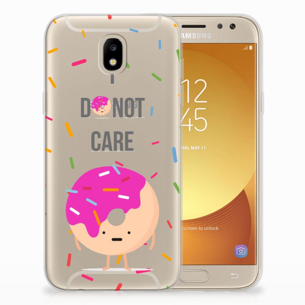 Samsung Galaxy J5 2017 Siliconen Case Donut Roze