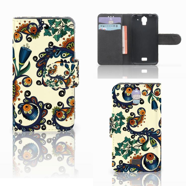 Wallet Case Huawei Y360 Barok Flower