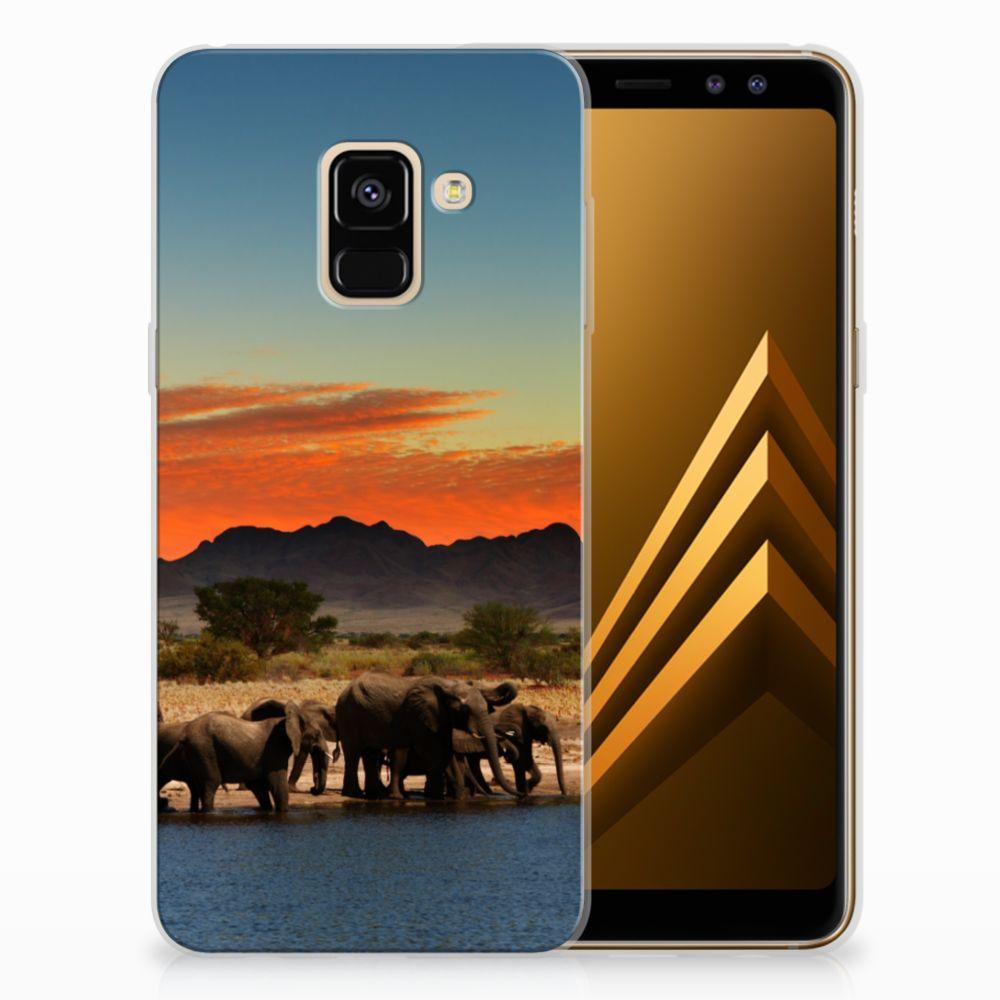 Samsung Galaxy A8 (2018) TPU Hoesje Design Olifanten
