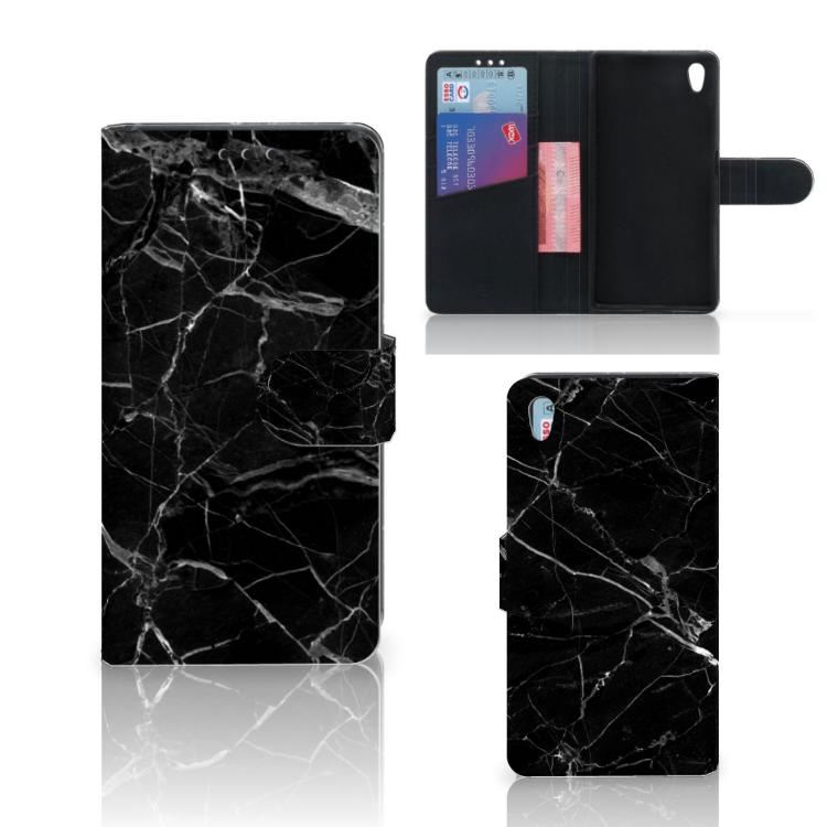 Sony Xperia Z5 | Z5 Dual Bookcase Marmer Zwart