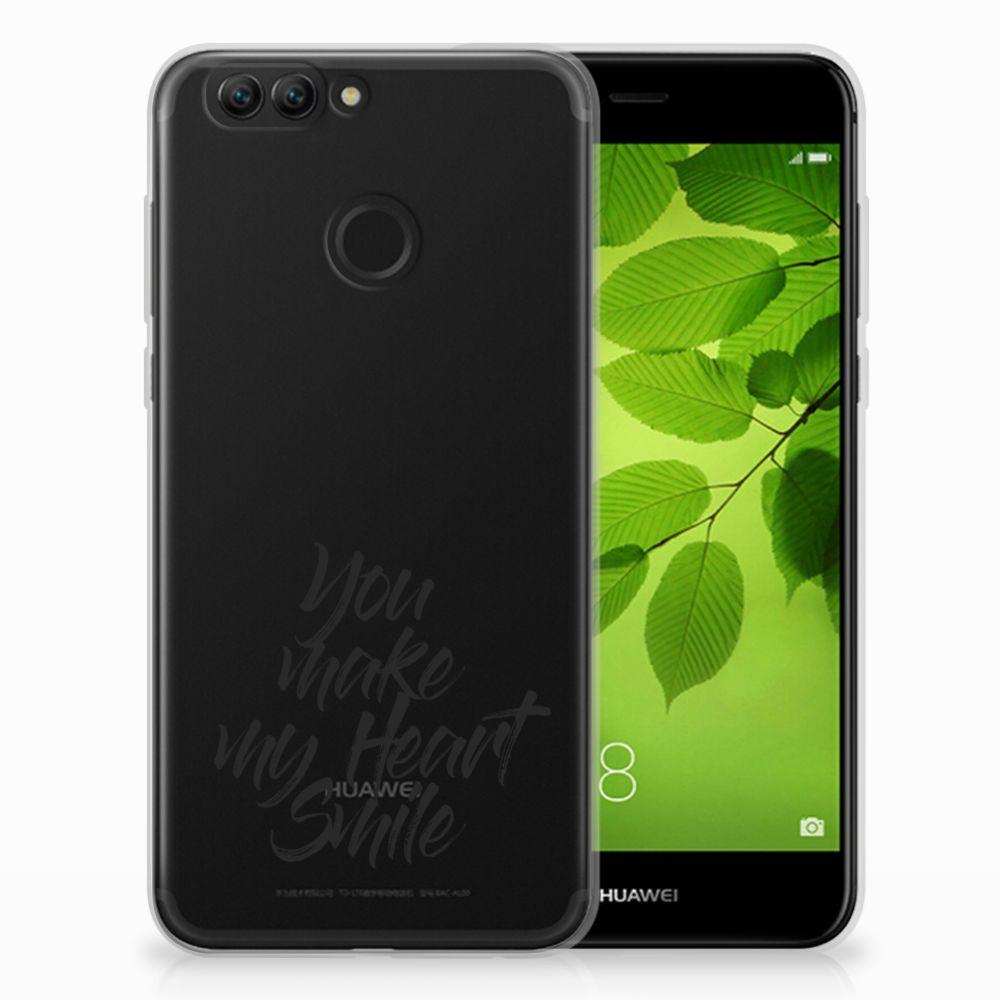 Huawei Nova 2 Siliconen hoesje met naam Heart Smile