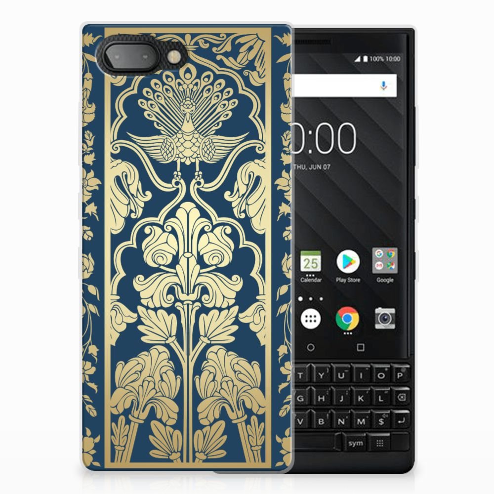 BlackBerry Key2 Uniek TPU Hoesje Golden Flowers