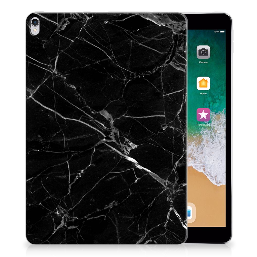 Apple iPad Pro 10.5 Tablet Back Cover Marmer Zwart - Origineel Cadeau Vader