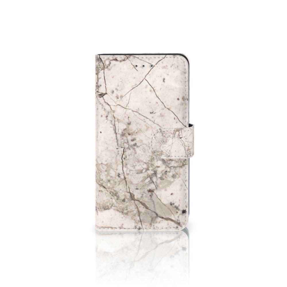 Samsung Galaxy J4 2018 Boekhoesje Design Marmer Beige