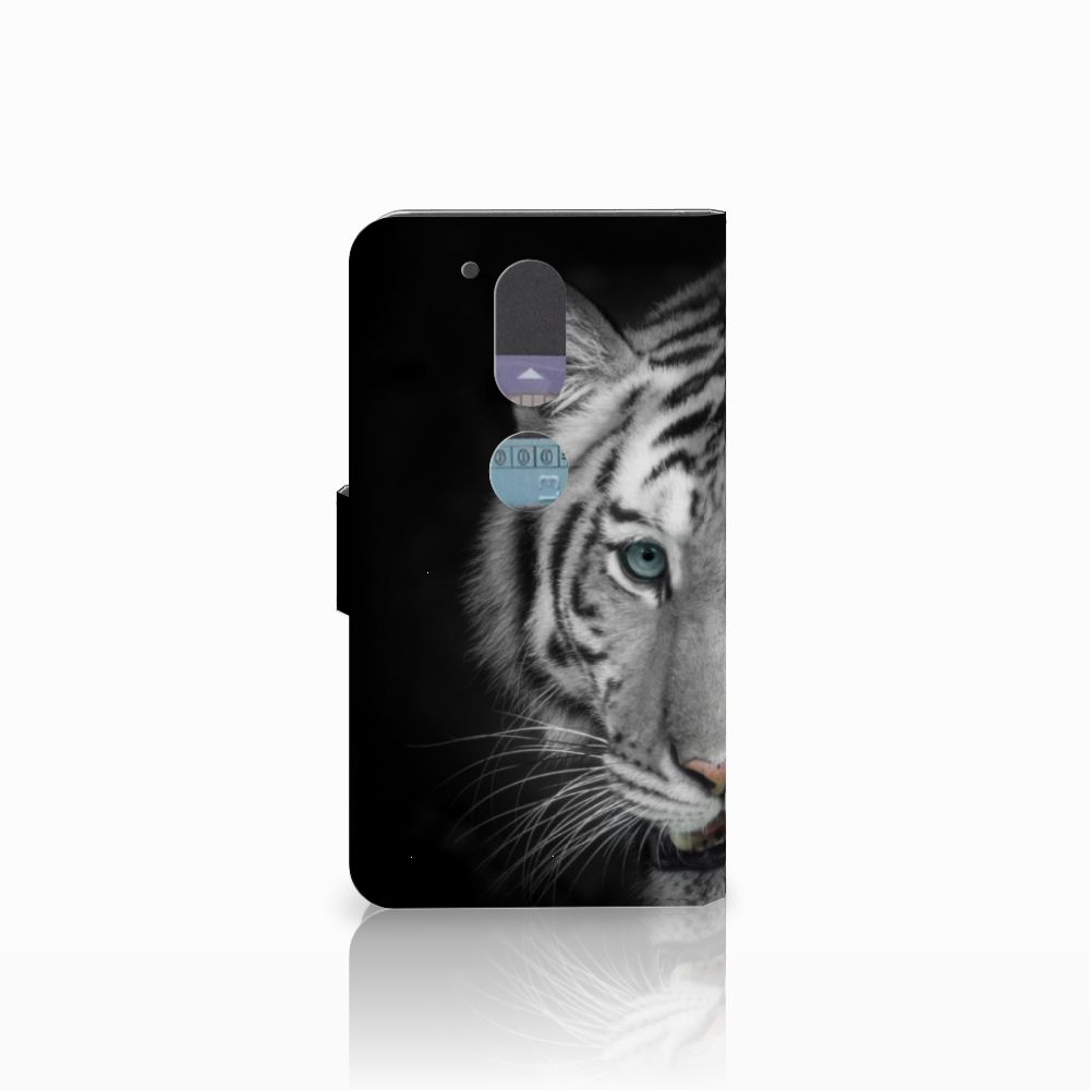 Motorola Moto G4   G4 Plus Telefoonhoesje met Pasjes Tijger