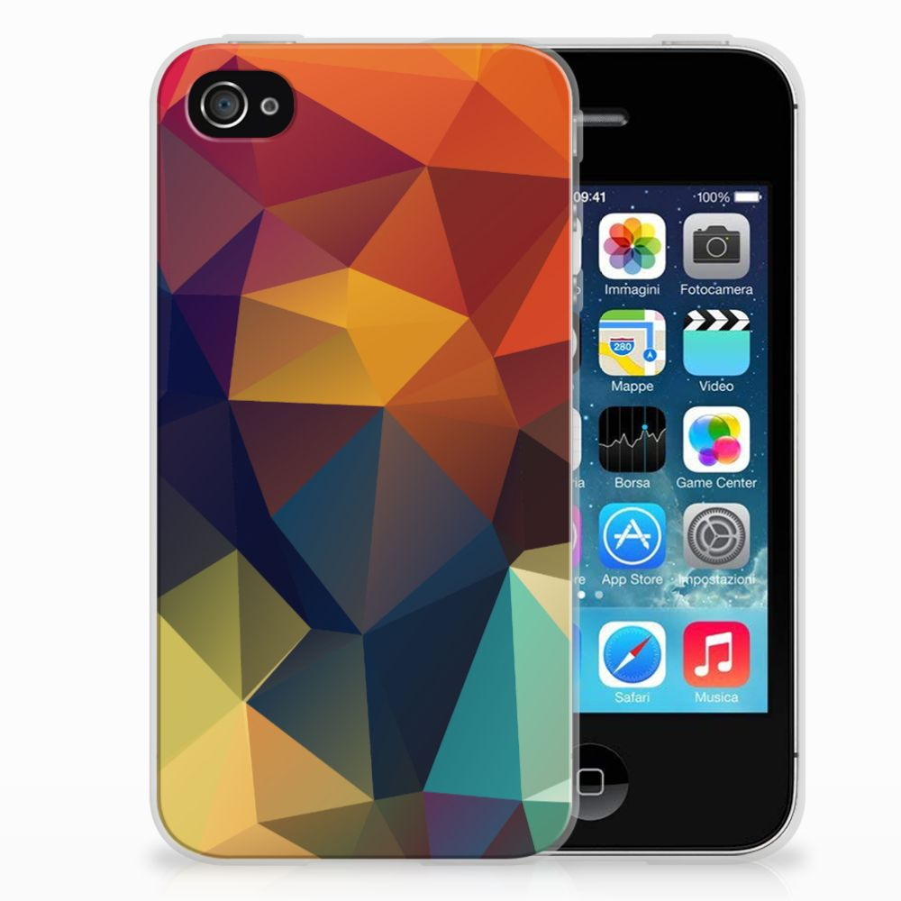 Apple iPhone 4 | 4s TPU Hoesje Polygon Color