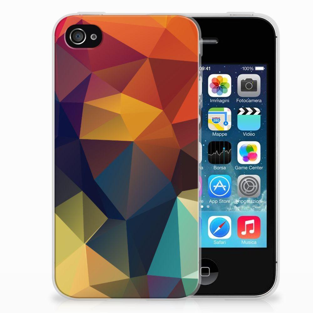 Apple iPhone 4 | 4s TPU Hoesje Design Polygon Color