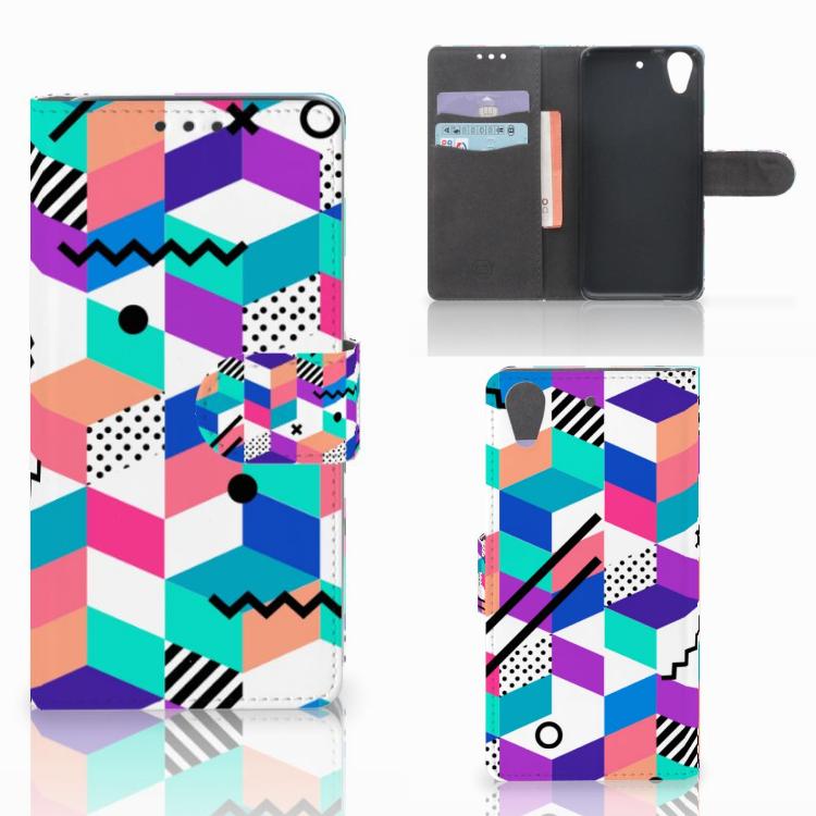 HTC Desire 626 | Desire 626s Bookcase Blokken Kleurrijk
