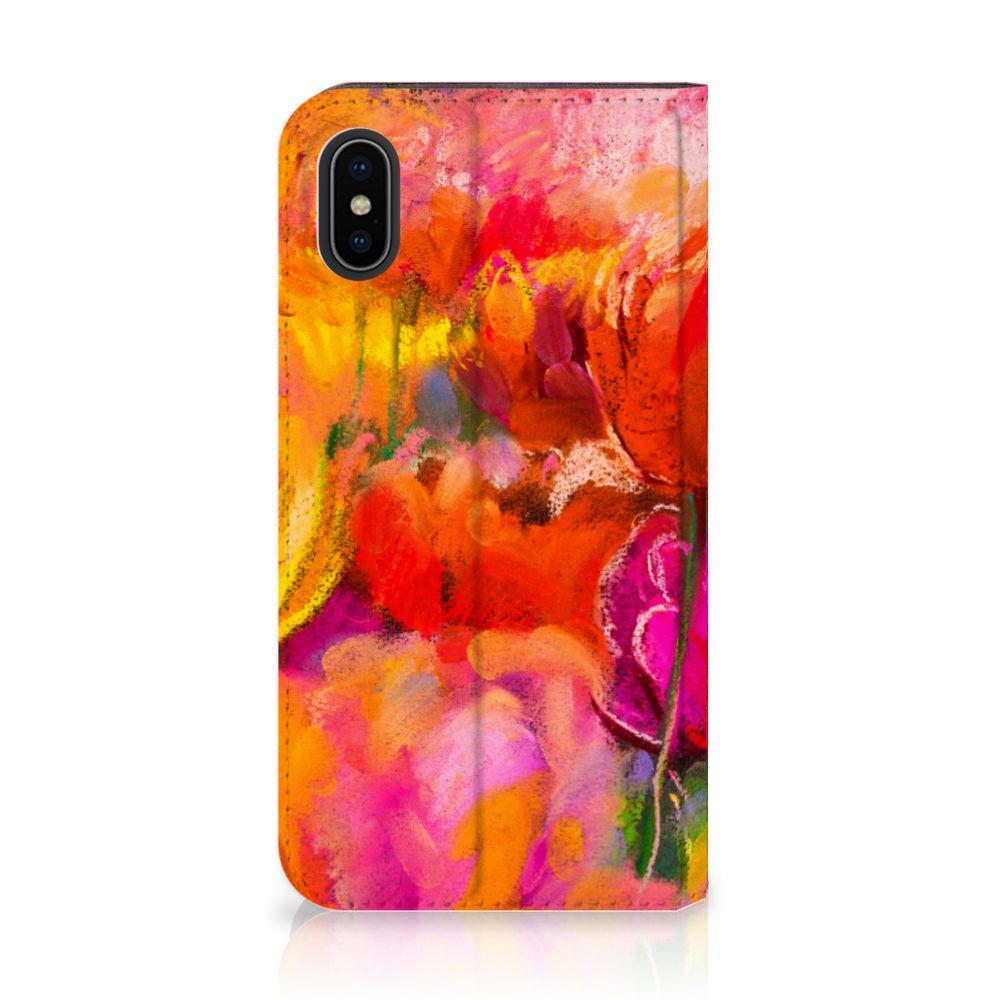 Apple iPhone X | Xs Standcase Hoesje Design Tulips