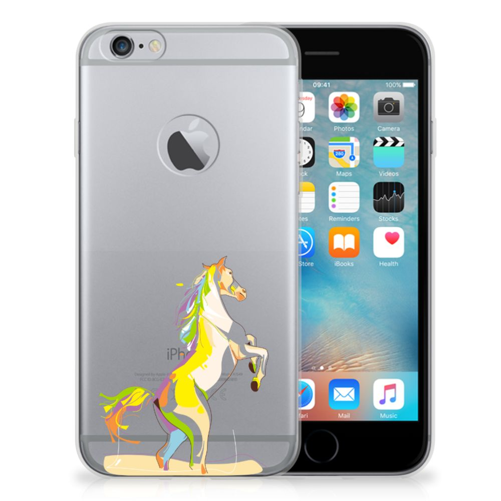 Apple iPhone 6 Plus | 6s Plus Telefoonhoesje met Naam Horse Color